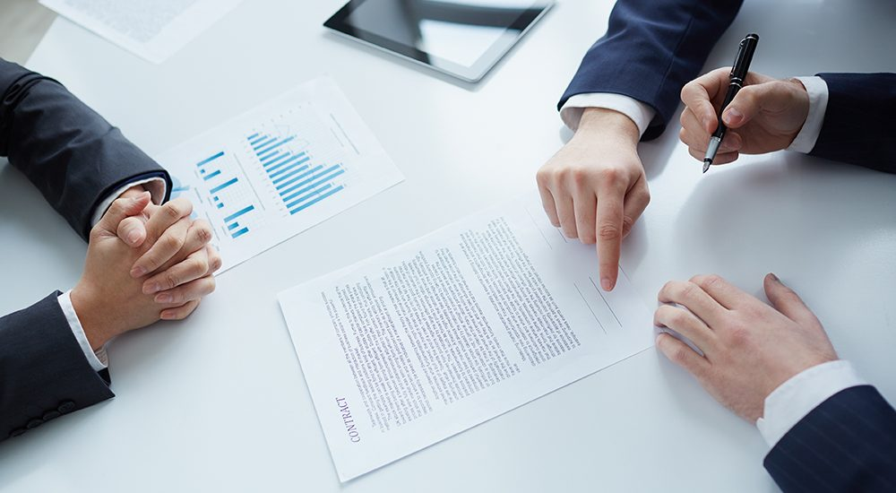 The process of signing new business contract
